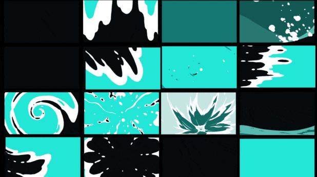 1000多种二维卡通特效合成水火能量爆炸二维卡通特效动画元素素材 AE-第4张