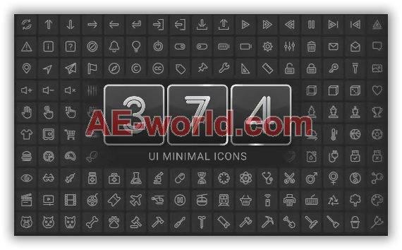 376款UI界面生活图标元素mg动画包 mg动画-第1张