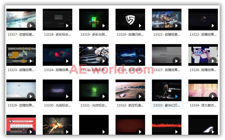 416个AE模板合集包已整理含预览视频 AE模板-第3张