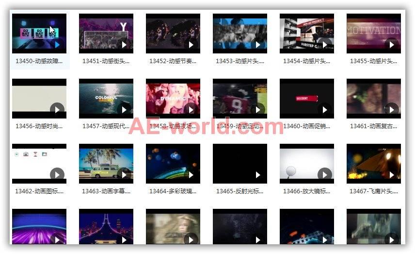 416个AE模板合集包已整理含预览视频 AE模板-第4张