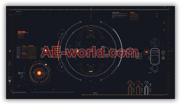 HUD信息图元素特效合成AE模板