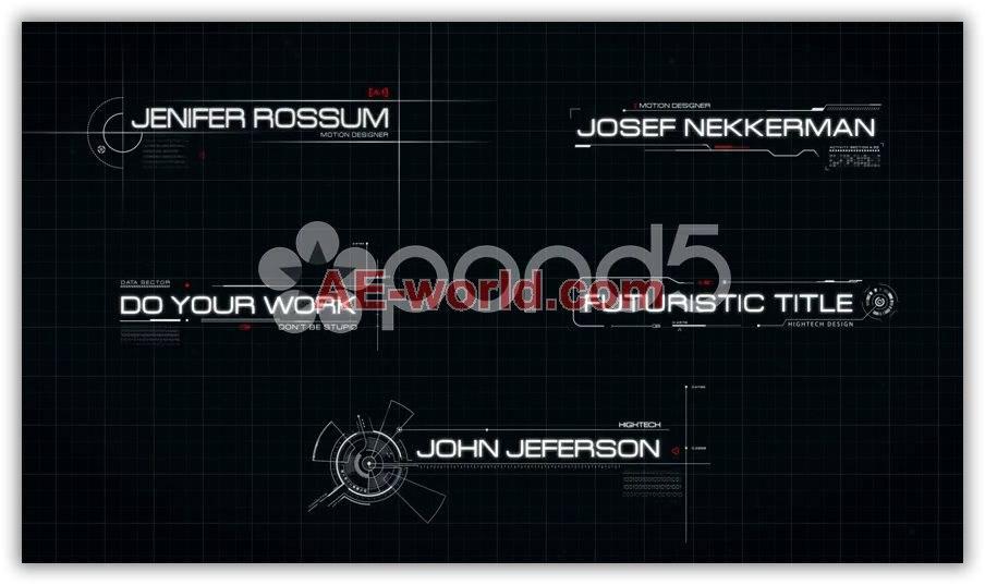未来科技感字幕标题AE模板