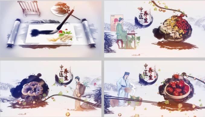 中医药文化水墨片头AE模板 logo/片头-第1张