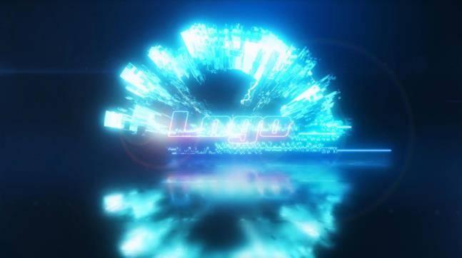 炫酷能量电流logo故障特效AE模板 logo/片头-第1张
