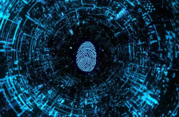 科技指纹识别解析开场片头AE模板 logo/片头-第1张